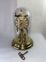 Vintage Welby Kieninger Obergfell Mechanical Anniversary Clock Made In Germany