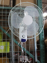 Lot 2 18 Wall Mount Oscillating Hydroponic Fan 4 Air Circulation Cooling