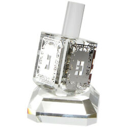 Crystal Dreidel N.g.h.poh With Plate Home Accent Decor Traditional Style 8cm