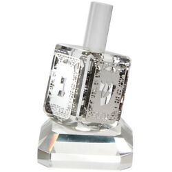 Crystal Dreidel N.g.h.poh With Plate Home Accent Decor Traditional Style 11cm