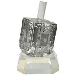 Crystal Dreidel With Metal Plate- N.g.h.poh Accent Decor Traditional Style 12cm