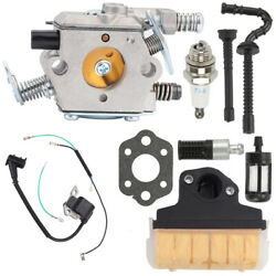Carburetor Air Filter Ignition Coil Tune Up Kit For Stihl 021 023 025