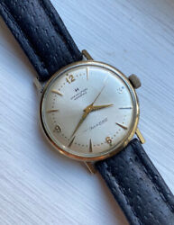 Vintage Hamilton Mens Watch Automatic Thin-o-matic 1960andrsquos Gold Tone