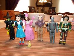 6 1988 The Wizard Of Oz Action Figures Lot Mgm / Turner With Accessories Toto