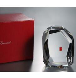 Baccarat Rock Crystal Glass Figure Object With Box From Japan 88