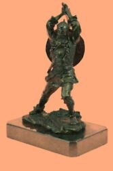 Handcrafted By Lost Wax Norse God Odin Bronze Patina Statue Viking Pagan