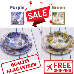 Better Homes And Gardens Outdoor Melamine Hydrangea Purple Platter And Serving Bow
