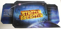 Red Hot Chili Peppers Stadium Arcadium 12x24 Promo Flat Signed By All 4 Rare