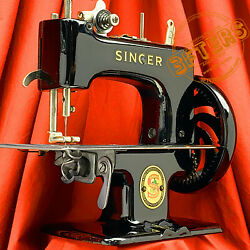 Singer Sewhandy 20 Red S Child Toy Sewing Machine 20-1 Restored By 3fters