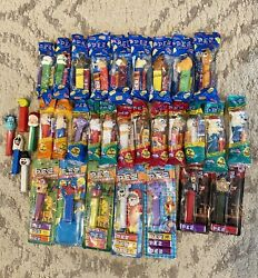 Mixed Lot Of 33 Pez Dispensers Candy, Vintage And Modern, Mostly New