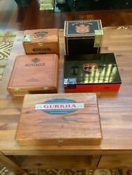 Vintage Cigar Boxes Mixed Lot Of 5 Empty Mixed Brands And Condition