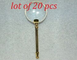 Antique Brass 2 Magnifying Glass Vintage Collectible Magnifier Best For Gifted
