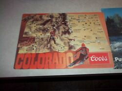 Vintage Coors + Old Style Beer Placemats Signs Colorado + Wisconsin Wi. Bar