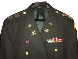 Vintage Us Army Full Dress Uniform Captain Decorated Medals Ribbons Military Euc