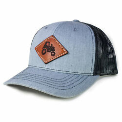 Tractor - Youth Richardson 112 Leather Patch Hat
