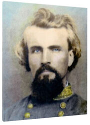 General Nathan Bedford Forrest 1862 Hand Color Tinted Photo Giclee Canvas Print