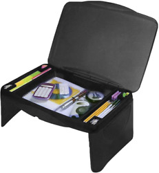 Folding Lap Desk Laptop Food Serving Tray Book Stand Breakfast Bed Table Storage