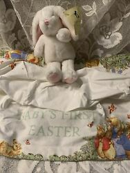 Pottery Barn Kids Beatrix Potter Easter Basket Liner Baby First Easter Nwt Bunny