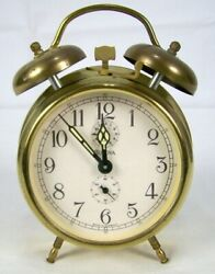 Vintage Bulova Clock with Alarm Made in Germany NEED REPAIRS PARTS