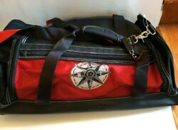 1997 Marlboro Unlimited Gear Compass Sports Duffle Bag Tote Luggage Red Navy Nwt