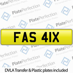 Fas 41x Very Rare Fasal Cherished Private Number Plate Dvla Registration