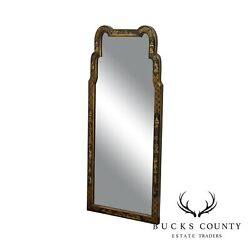 La Barge Chinoserie Painted Queen Anne Style Wall Mirror