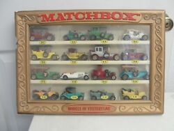 Vintage Matchbox Models Of Yesteryear Lot Of 16 1-16 In Rare Showcase