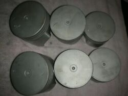 Corvair Forged Trw 64-69 .030 Long Skirt Pistons, No Wear, Used By Auto Shop