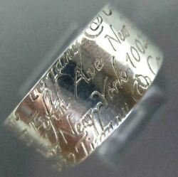 Estate Wide And Co. 925 Silver 3d Classic Ny 5th Ave Engraved Ring 26737