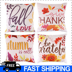 Fall Throw Pillow Covers Set of 4 Autumn Maple Leaves Pillow Covers Thankgiving