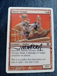 Shock Troops 8th Ed Signed By Jeff Miracola Mtg