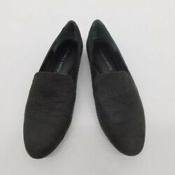 Franco Sarto Leather Charcoal Black Loafers Womenand039s Size 8.5 M