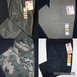Menand039s Wrangler Flex Cargo Pants Relaxed Fit W/ Tech Pocket 4 Colors All Sizes