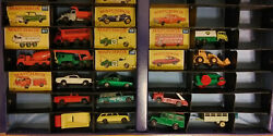 Big Lot Of Vintage Matchbox Mixed Over 25 Cars Plus Rare Fire Station
