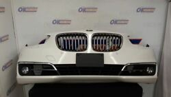 14 Bmw 535i Gt Complete Front Bumper Assembly With Air Shutter And Cameras White