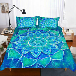 3d Mandala Bedding Set Large Bohemian Quilt Cover Bohemian Bed Cover Pillowcase