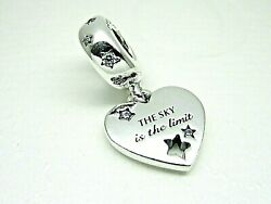 Authentic Pandora 799323c01 Congratulations Heart And Stars Dangle Charm With Cz