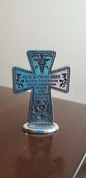 Cross for nurse. Standing cross for nurse with message. Silver color. $5.00