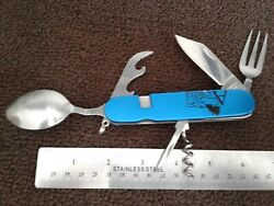 Hobo Knife Camp Tool Knife Bottle Opener Spoon and Fork BUG OUT SURVIVAL $9.99
