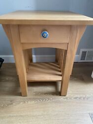 Borkholder Nightstand Mission Style Handmade And Signed Excellent Condition