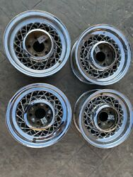 1953-1957 Cadillac Kelsey Hayes 15 X 6 Wire Wheels Used Core As Is Or Restore