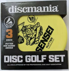 Discmania Active Soft 3-piece Starter Set - Great For Any Player - Power Seller