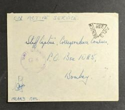 1945 Soldier's Free Mail Fpo 98 Secunderabad Bombay India Military Censor Cover