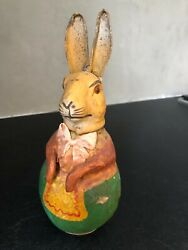 Rare Vintage German Rabbit Candy Container Easter 3 Stunning