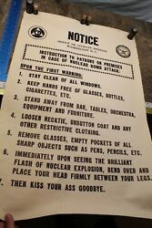 Vintage Nuclear Civil Defense Poster 35x23 With Original Mailing Tube 5c3