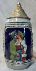 4 Vintage Beer Steins Made In Germany Collectible