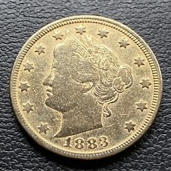 1883 Liberty Head Nickel 5c Better Grade Racketeer Gold Plated No Cents 30411
