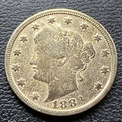 1883 Liberty Head Nickel 5c Better Grade Racketeer Gold Plated No Cents 30414