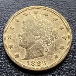 1883 Liberty Head Nickel 5c Better Grade Racketeer Gold Plated No Cents 30416