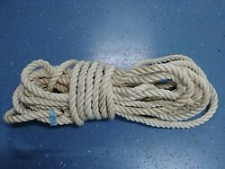 Anchor Rope Dock Line 1 X 76and039 Twisted 3 Strand Nylon White Marine Boat Mooring